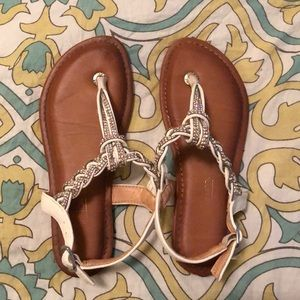 Other - Sparkly white and silver sandals